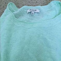 Made well sweater Mint Long regular sleeves Madewell Sweaters Crew & Scoop Necks