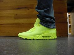 Nike Lime Green Hyperfuse Air Max 90 #sneakers