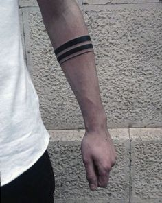 Best Tattoo Trends - Mens Two Black Band With Thin Solid Line Tattoo On Forearm. tattoos Tattoo Trends – Mens Two Black Band With Thin Solid Line Tattoo On Forearm… Thin Tattoo, Black Band Tattoo, Band Tattoos For Men, Tattoo Band, Band Tattoo Designs, Forearm Band Tattoos, Armband Tattoo Design, Arm Tattoos For Guys, Trendy Tattoos