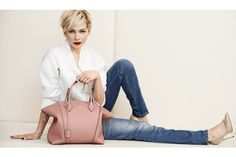 An ad visual from Louis Vuitton featuring Michelle Williams.