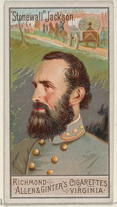 Trade card from the 1888 Allen & Ginter's Great Generals series.