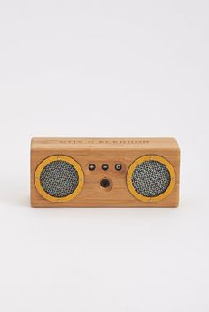 We've seen the future of speaker boxes, and it's bamboo. Are you ready? Rock out for 8+ hours with this Bluetooth-enabled boombox.