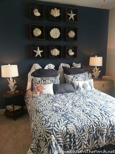 Deko Nauticial Bedroom with Coral Lamps Bed shopping advice for the tired shopper It is a fact that Ocean Bedroom, Nautical Bedroom, Coastal Bedrooms, Rustic Bedrooms, Bedroom Themes, Bedroom Decor, Bedroom Ideas, Apartment Decorating Themes, Decorating Ideas
