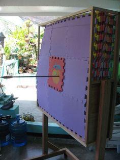 DIY archery target from foam mats