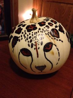 Cheetah pumpkin