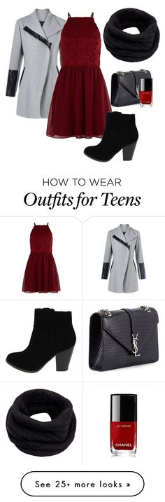 """""""Untitled #2"""" by larcenkokata on Polyvore featuring Yves Saint Laurent, Chanel, New Look and Helmut Lang"""