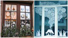 Зимові витинанки на вікна: схеми та ідеї!