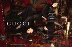 Karmen Pedaru & Nadja Bender Luxuriate in Guccis Fall 2012 Campaign by Mert & Marcus