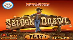 There is the brawl at this saloon. Join and wipe out all the other cowboys.