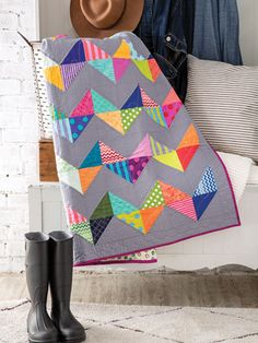 Charm Pack Quilt Patterns - Over the Hills Quilt Pattern Charm Pack Quilt Patterns, Charm Pack Quilts, Scrap Quilt Patterns, Beginner Quilt Patterns, Quilting For Beginners, Block Patterns, Quilt Tutorials, Scrappy Quilts, Easy Quilts