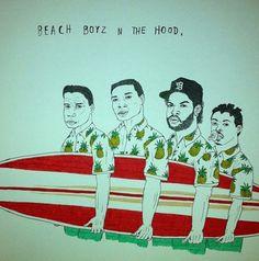 Yup, this just happened! Beach Boyz N The Hood! #90s #rap #hiphop #movies