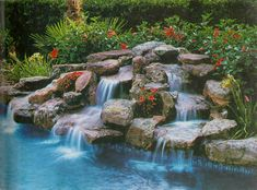 water fall built at
