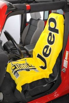 d1546814 Jeep Yellow Beach Towel CAN BE USED AS A SEAT COVER WOW!!! LOOK!!! BRAND NEW!!!  | eBay