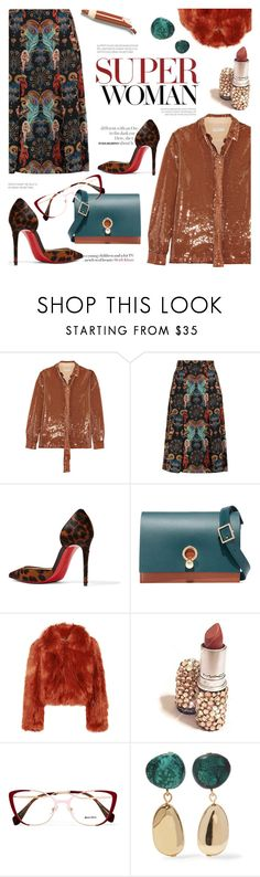 """Glamour"" by cilita-d ❤ liked on Polyvore featuring Emilio Pucci, Matthew Williamson, Christian Louboutin, Danielle Foster, Maison Margiela, Miu Miu and Dinosaur Designs"