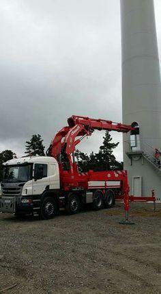 Scania zwaar auto kraan. Cormach 87 000E8.