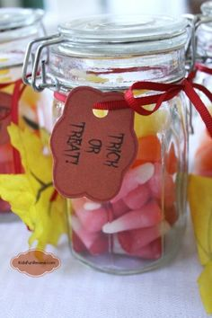 Starburst Candy Corn party favors with a free printable tag #client