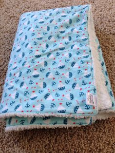 Nautical cuddly blanket on Etsy, $25.00