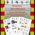 Elementary Attributes Bingo teacherspayteachers.com Language Galore! store