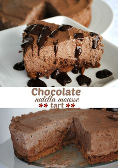 Chocolate Nutella Mousse Tart Recipe