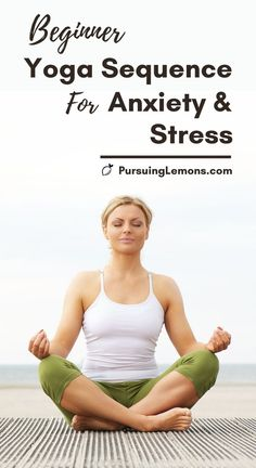 Are you having trouble coping with stress and anxiety? Try this beginners yoga sequence for anxiety and stress to help reduce anxiety today! Yoga Beginners, Yoga Sequence For Beginners, Workout For Beginners, Beginner Yoga Sequences, Yoga Routine, Stress Yoga, Yoga For Stress Relief, Stress Relief Exercises, Beginner Workouts
