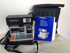 Retro Mid century Polaroid camera. Carry strap/original bag/Polaroid booklet/Instant camera/land camera/Photography/collectable. by trevoranna on Etsy