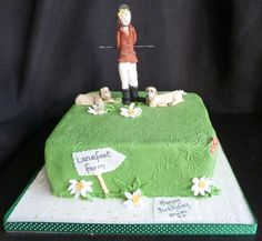 I was sent a picture and asked if i could do a topper from that. Of course – and heres the finished result. horse riding birthday cake
