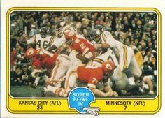 1981 Fleer Team Action #60 Super Bowl IV Front