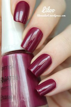 beautiful raspberry Nails Nail Art www.finditforweddings.com