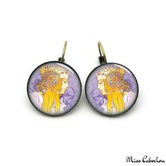Art deco style earrings  - The jewelry of the day by Miss Cabochon (available at http://misscabochon.com)