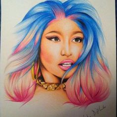 Nicki Minaj Drawing - gregory312 © 2014 - Apr 8, 2014