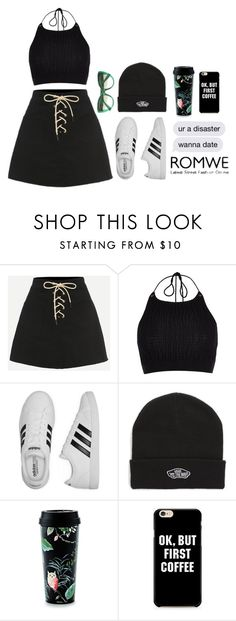 """Ok, but first coffee"" by bae01 ❤ liked on Polyvore featuring River Island, adidas, Vans, Kate Spade and Dolce&Gabbana"