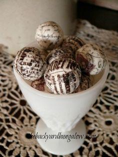 French paper clay balls  thebackyardbungalow.com