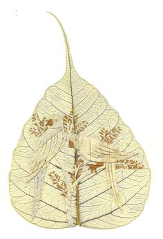 LOVE Birds Unique Valentine Gift No two leaf or leaf by museumshop, $9.99  Ancient & endangered leaf art collectible. Start your collection today.