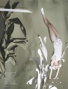 British Vogue  Photog Tim Gutt  Set Design Shona Heath   Lara Mullen  inspired by Wedgewood China, the upcoming London Olympics and the season's fixation with pretty pastels.