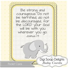 Scripture Pocket Cards for Baby  3x4 Journal by DigiScrapDelights, $3.00