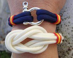 Pulseras bandera de España  http://www.pi2010.com/Complementos-bandera-España/Pulsera-bandera-España-nautica #pulserabanderadeEspaña #pulseraespañola #fabricadoenEspaña  Si te gusta, comparte