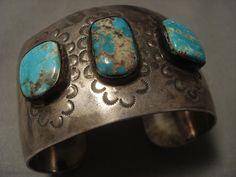 Museum Vintage Navajo #8 Turquoise Silver Bracelet