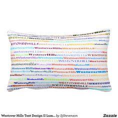 Westover Hills Text Design II Lumbar Pillow