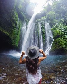 Down pouring of rain. Outpouring of happiness. Waterfalls yesterday, now hiking for the next three days up a volcano!  Shot on @gopro by @travisburkephotography. @indtravel #wonderfulindonesia