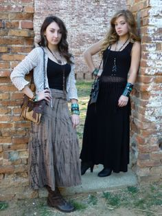 My Gypsy Girls modeling my Warrior Princess #leather #bags and #jewelry!