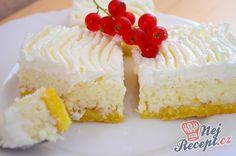 Broskvový koláč se šlehačkou | NejRecept.cz Vanilla Cake, Cheesecake, Xmas, Ale, Sweet, Food, Creme, Brownies, Hampers