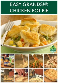 Easy Grands!® Chicken Pot Pie using Green Giant veggies. Chicken pot pie in only 4 ingredients, 3 steps, and 10 minutes.
