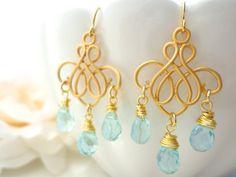 Gold Chandelier Earrings Marie Antoinette Earring Chandelier Crystal Earrings Victorian Rococo Bridal Chandelier Earrings Wedding Jewelry