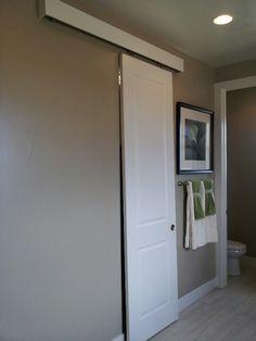 Sliding door for bathroom