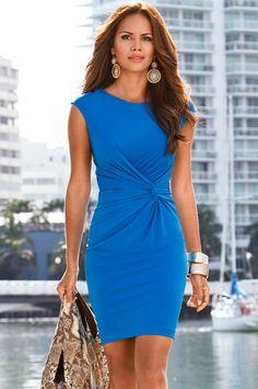blue dress closet ideas women fashion outfit clothing style Love the colour: Pretty Dresses, Beautiful Dresses, Gorgeous Dress, Look Fashion, Womens Fashion, Fall Fashion, High Fashion, Fashion Beauty, Fashion Trends