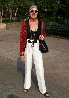 Elder Style: 10 street fashions from women over 60 | Vitality - Yahoo Shine