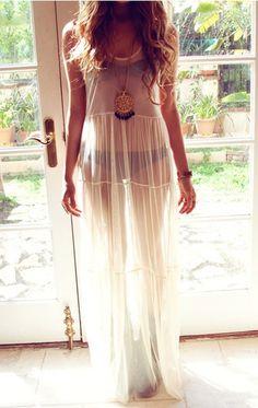Sexy transparent straps dress EWV92AG
