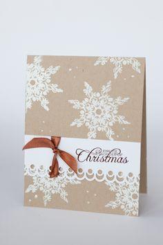 Schnubbeldupp: Schlichte Weihnachtskarten auf Kraftcardstock