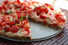 Raw Strawberry Cream Tart