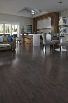 Dark & luxurious tones like Espresso Hevea are a hot flooring style this season! Would you use a rich color like this in your home? See more like it in your free Summer 2015 Catalog: www.lumberliquidators.com/ll/catalog/request